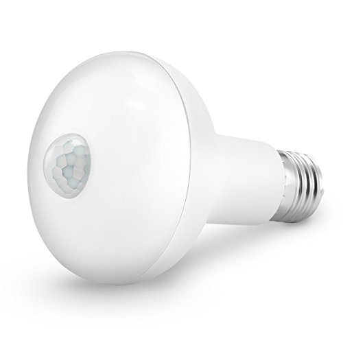 KINGSO Motion Light Bulb,E27 9W PIR Infrared Motion Sensor Detection Light PIR Bulb Lamp Auto Switch Stairs Night Lights Energy Saving for Security Decoration- 85-265V Warm White