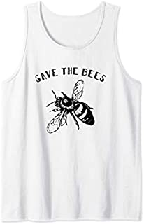 Vintage Bee  - Retro Save The Bees Gift Tee Tank Top T-shirt | Size S - 5XL