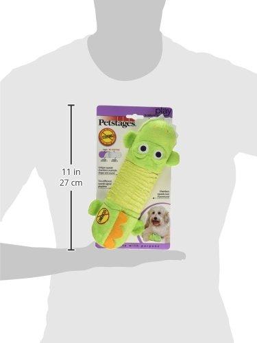 Petstages 631 Stuffing Free Big Squeak Gator Dog Squeak Toy