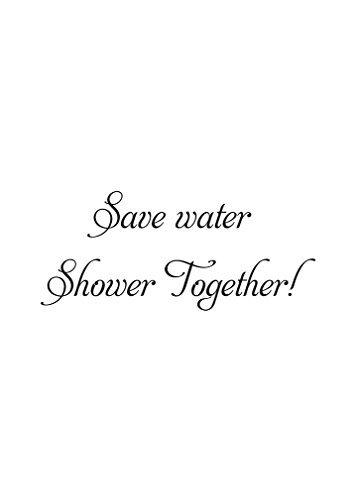 save water shower together sign - 1