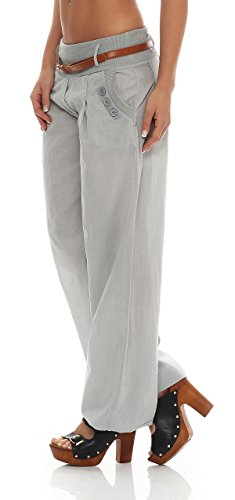 Bouffant Gris Chino Ao Ceinture Pantalon 4tuality Avec qBTOwawg