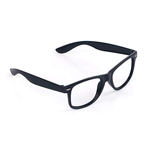 EasGear Geek Oversized Black Framed Eye Glasses,Halloween Costumes]()