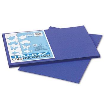 Tru-Ray Construction Paper, 76 Lbs., 12 X 18, Royal Blue, 50 Sheets/Pack