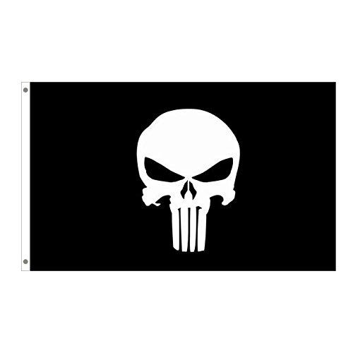 100/% poli/éster cabeza de lona con ojal de metal Home King Bandera de Punisher de 3 x 5 pies