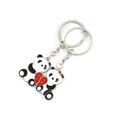 Thomann-Llavero doble de oso panda, diseño de enamorados ...