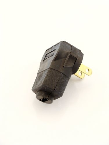 (Leviton 101AN-00E Angle Plug 15A-125V, Black)