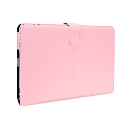 TOP CASE - Pink Leather Skin Case Cover Compatible with Apple MacBook Air 11
