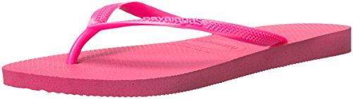 Havaianas Women's Slim Sandal,Shocking Pink/Shocking Pink,37/38 BR (7-8 M - Pink Havaianas