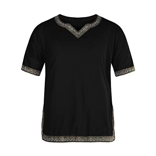 Men Tops Casual, 2019 Teenage Mutant Ninja Turtles t Shirt Men African Dashiki Slim Fit Print Short Sleeve Casual T-Shirt Tops Blouse