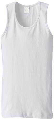 Clementine Big Girls' Everyday Wide Strap Tank Top, White, 6/8/Small