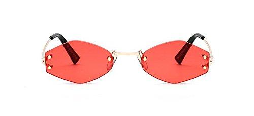 Métallique Femmes et Style Rond en du Soleil Inspirées Rouge Polarisées Lunettes Retro Steampunk Film de Cercle Hommes Pour xZgRwq6v
