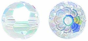 Swarovski #5000 Faceted Round Beads, Aurora Borealis 2X Finish, 8mm,