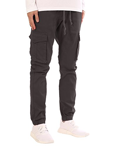 JD Apparel Men's Slim Fit Drawstring Cargo Jogger Pants S Ch