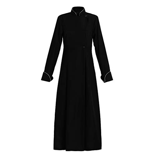 - 1791's lady Women's Cassock Choir Cassock Minister Robe Clergy Pulpit Liturgical Vestment (L:Height65-67 Chest38.5-40