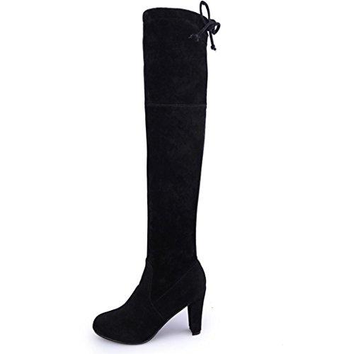 Bottes Talons Femmes Bottes Minces Genou Hauts Sur Noires Chaussures Les Mode Haute Sexy Du L'étirement Jamicy wAUqxwEaI