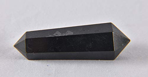 Black Tourmaline double terminated vogel type wand 130 Cts 2089
