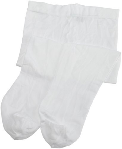 Danskin Little Girls' Student Footed Tight,White,S (4/6) (Skating White)