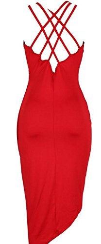 Cruiize Pleated V Midi Sleeveless Wrap Lace Womens Low Red Neck Dress Up High 6wrYqwTfg