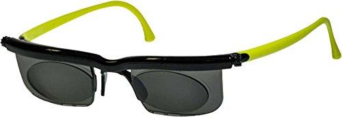 Adlens EM02-S-BK-GR Sundials Black Frame & Lime Green Temples With Gray Tinted Alvarez Lens - Golf Sundial