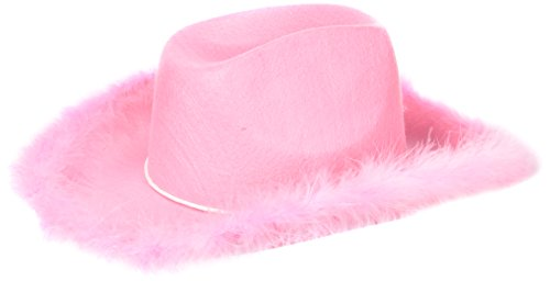 U.S. Toy H462 Adult Boa Cowgirl Hat, -
