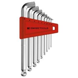 生活日用品 DIYグッズ工具 2212H-10 ショートヘッド六角棒レンチセット(パックナシ) B07565W2RJ