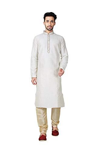 Pinkcitycreations Party Pajama Cotton Set Mens Of Wedding India Wear 2Cream 17 Kurta 34jARLq5