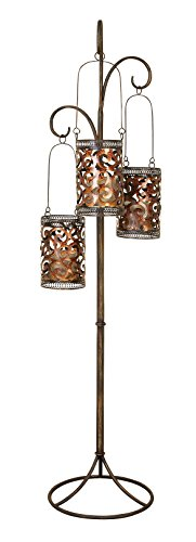 Deco 79 Artistically Designed Metal Floor Candle Lantern