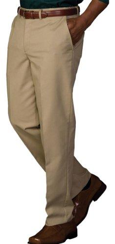 Edwards Garment Men's Casual Chino Blend Pant, KHAKI, 32 (Mens Blended Chino)