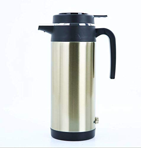 Workbees Auto Wasserkocher 12V 1000 ML Portable Edelstahl Auto LKW Reise Wasserkocher Trinkbecher fü r Tee Kaffee Milch (12 V)