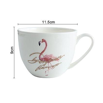 Laxba taza de café Taza de cerámica de la taza del flamenco taza Taza de la
