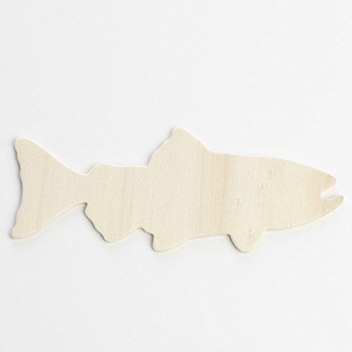 Factory Direct Craft® Group of 24 Unfinished Wooden Trout Fish
