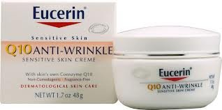 Q10 Eucerin Anti-Wrinkle Sensitive Skin Creme, 1.7 oz. (Pack of 2)