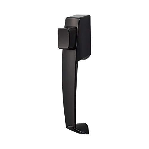 (Ideal Security BK311BL VP Push Button Storm Door Handle Set All All Metal Components, Premium Inside Latch, No No Key, Black)