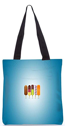 "Snoogg Icecreams Tragetasche 13,5 X 15 In ""Shopping-Dienstprogramm Tragetasche Aus Polyester Canvas"