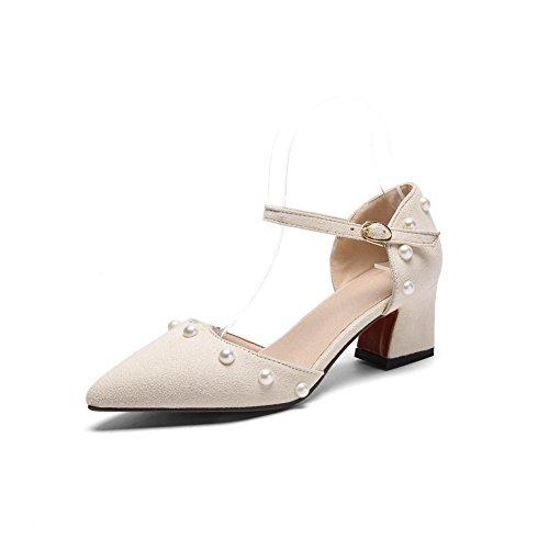 Beige EU 5 Beige Sandales Compensées Femme 36 BalaMasa pIq07Aq