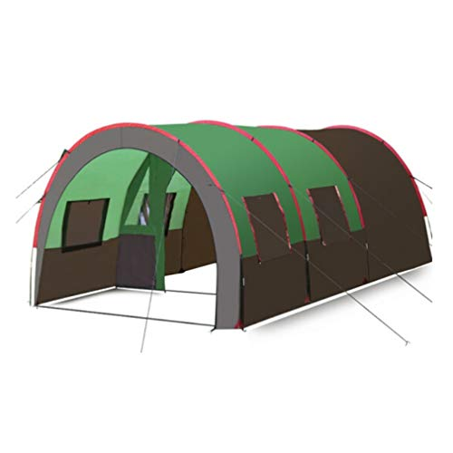 IOOkME-H 8-10 Person Family Camping Tunnel Tent Portable Cabin Tent Waterproof Double Layer One Bedroom Two Living Room for Outdoor Picnic Camping Survival 15.75'×10.1'×6.9′