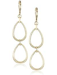 Women's Gold Tone Double Drop Earrings, One Size