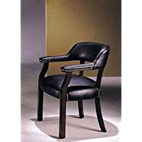 Captain Chair Black Bycast Leather