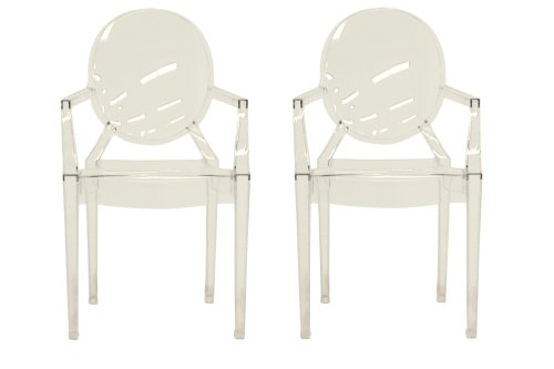 Baxton Studio Set of 2 Vico Clear Acrylic Arm Chair Review