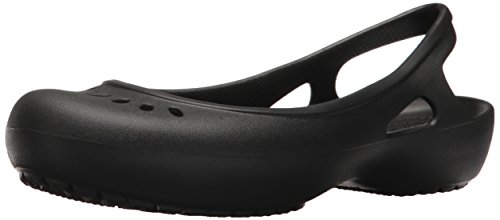 Crocs Women's Kadee Slingback W Ballet Flat, Black, 8 M US (Crocs Women Flat Shoes)