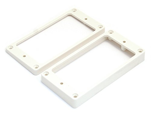 Allparts PC-0743-025 Humbucking Pickup Rings Flat Slanted White
