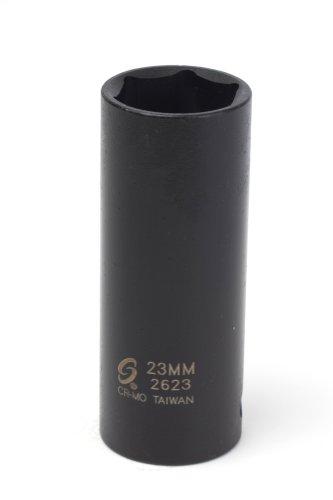 23 Mm Socket - Sunex 2623 1/2-Inch Drive 23-Mm Extra Thin Wall Deep Impact Socket