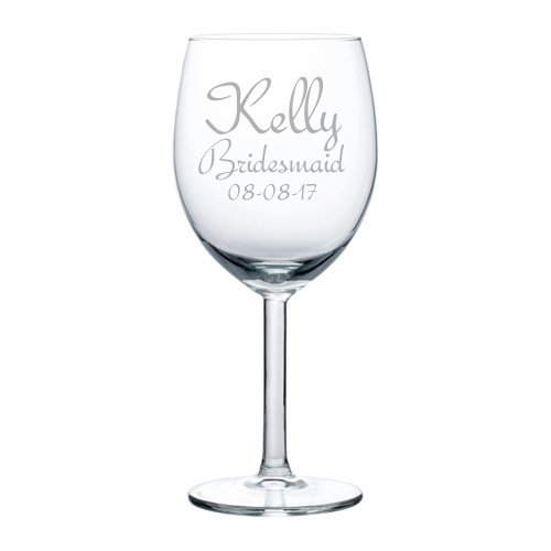 Engraved 10oz Wine Glass White Red Wine Custom Personalized Engraved Red Wine