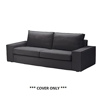 IKEA KIVIK - Cover three-seat sofa, Dansbo dark grey