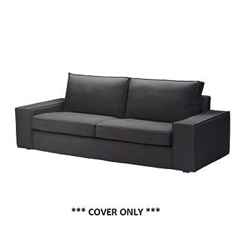 Ikea KIVIK - Cubierta sofá de Tres plazas, Dansbo Gris ...