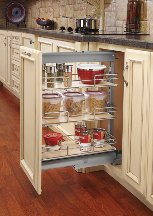 Pull-Out Pantry Units, Door Mount Extender, (Pair) - Maple Shelf Kit
