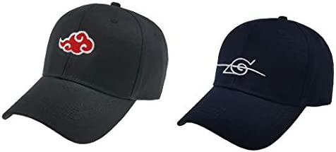 2pcs Anime Naruto Akatsuki Cap Uchiha Itachi Cosplay Baseball Caps Hat Embroidered Cotton Adjustable Snapback Amazon Com Au Fashion