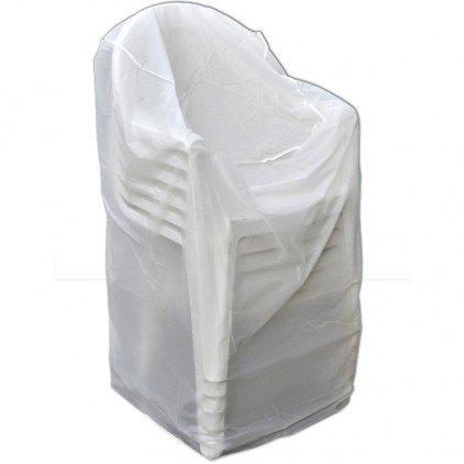 ose housse de protection pour chaises de jardin blanc 60 cm - Chaise De Jardin