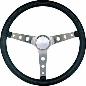 968 Steering - Grant 968-0 Classic Nostalgia Style Steering Wheel with Black Foam Grip and Brushed Stainless Spokes