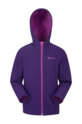 Mountain Warehouse Exodus Kids Softshell Jacket - Cool Childrens Coat Purple 13 - Mac Warehouse